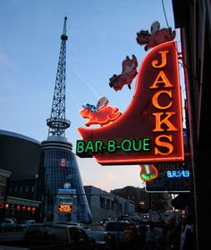 Jack's Bar-B-Que, Nashville-My favorite place to eat in the whole world.