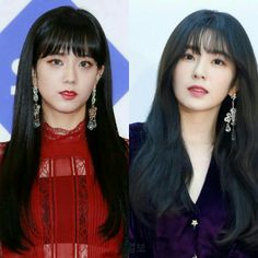 Black hair with bangs. 😍 #jisoo #irene #blackpink #redvelvet #kimjisoo #baejoohyun #아이린 #지수 #레드벨벳 #블랙핑크 #배주현 #김지수