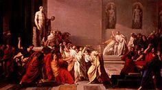 """Morte di Giulio Cesare (""""Death of Julius Caesar""""). By Vincenzo Camuccini, 1798"""