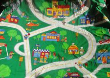 1 yard cotton teddy bear town and road print fabric When I Grow Up