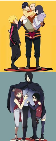 Naruto and Sasuke family