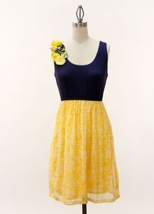 blue and yellow. <3 I would LOVE these as bridesmaids' dresses!!! yes, yes, yes!