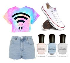 Untitled #25 by jessie2705 on Polyvore featuring polyvore, fashion, style, Topshop, Converse and Deborah Lippmann