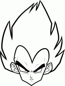 How To Draw Vegeta Easy Dragonball Z Gt In 2019 Goku Drawing