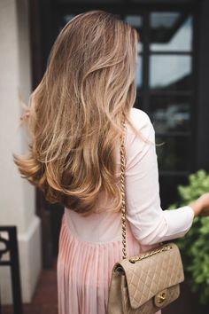 Long light brown hair style and soft waves
