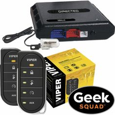 Viper - Viper 4806V 2-Way LED Remote Start System, Tilt Switch, Interface Module and Geek Squad® Installation - Front_Standard