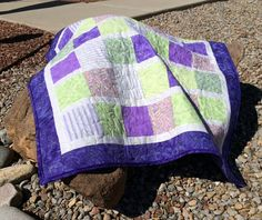 34x35 baby quilt...for stroller or car seat! on Etsy, $57.00
