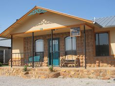 The Medicine Park Cabin is just a short walk away from everything Oklahoma's original cobblestone town has to offer. You'll feel right at home while vacationing in this getaway with a full kitchen, comfortable living room and an antique claw foot tub.