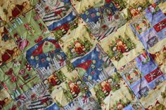 Quilt  Christmas at the Beach Large Lap by BermudaStreetQuilts