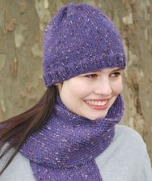 Basic Stockinette Hat and Scarf