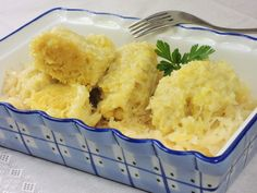 Chlupaté knedlíky – Snědeno.cz Gnocchi, Mashed Potatoes, Macaroni And Cheese, Food And Drink, Rice, Bread, Ethnic Recipes, Scrappy Quilts, Whipped Potatoes