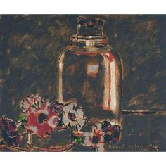""""""" David Milne (Canadian, Pickle Jar, OIl on canvas, x cm. Canadian Painters, Canadian Artists, David Milne, Tom Thomson, Autumn Art, Art Auction, Abstract Expressionism, American Art, Still Life"""