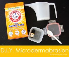 DIY microdermabrasion.  I just tried it and my skin feels EXACTLY the same as after salon microderm treatments!