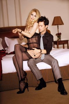 Claudia Schiffer & Joseph Gordan-Levitt