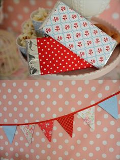 cath kidston party chocolate wrapping and fabric garland  @ little lemonade