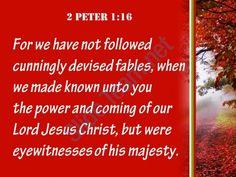 2 peter 1 16 we were eyewitnesses of his majesty powerpoint church sermon Slide05 http://www.slideteam.net/