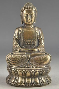 Brass Hand Hammered Collectable Buddha Statue