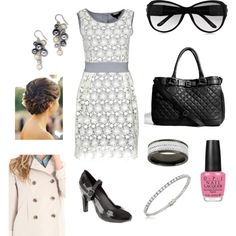 Gray Black Pink, created by jenhaught.polyvore.com