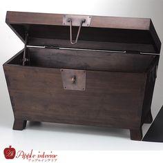 Trunk アンティークウッドトランクW70xD39xH40 インテリア 雑貨 家具 Antique ¥23572yen 〆06月15日
