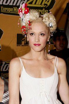 Gwen Stefani geisha inspired hair.  Always loved this look x