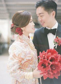 Bold red flower bouquet | http://brideandbreakfast.hk/2015/06/15/endearing-romance/ | Photographer: Jada Poon Photography