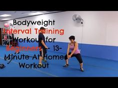 Bodyweight Interval Training Workout for Beginners -- Easy At Home Workout for Beginners - YouTube