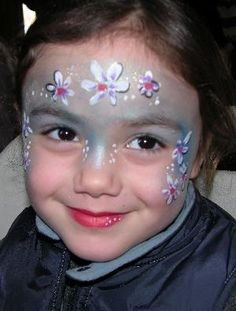 flowery face paint costumes