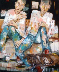 tableau : PENSÉES par ELISA COSSONNET - Portraits / Nus en Portraits / Nudes - DF40316PE045