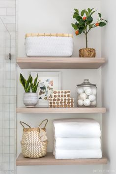 This gray striped planter is a favorite that's on sale for Way Day! Decor, Shelves, Driven By Decor, Diy Bathroom Decor, Small Bathroom Decor, Home Decor, Wood Shelves, Modern Bathroom Decor, Bathroom Decor