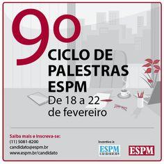 Participe do o 9º Ciclo de Palestras ESPM. Confira a programação e inscreva-se!
