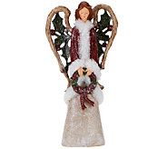 Frosted Woodland Angel with Wreath by Valerie - H203320