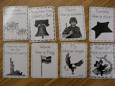 American Symbol action cards