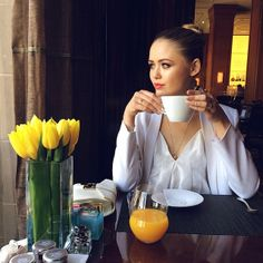 I love everything, the flowers, the make-up and hairstyle, her outfit.... /Kristina Bazan @kristina_bazan Instagram photos   Websta