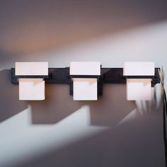 Hubbardton Forge Kakomi 3 Light Wall Sconce Finish: Brushed Steel, Shade Color: Stone