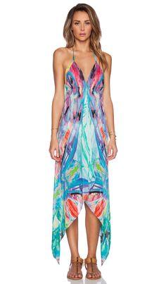 ale by alessandra Butterfly Silk Scarf Dress in Multi