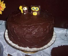 Sunflower wedding, Grooms cake with Owl and Squirrel