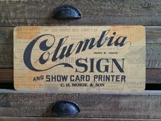 Images of ephemera from my studio that I have either collected or made myself to look old and forgotten. By Keith Tatum Typography Letters, Typography Design, Hand Lettering, Signwriting, Sign Painting, School Signs, Vintage Branding, Painted Signs, Old Pictures