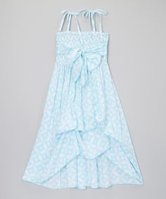 Look what I found on #zulily! Light Blue & White Diamond Infinity Dress - Girls by Infinity for Girls #zulilyfinds
