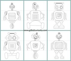 FREE Flip a Robot printable activity book. Kids can mix and match robot heads, bodies and legs.