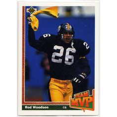 1991 PITTSBURGH STEELERS' ROD WOODSON UPPER DECK NFL TRADING CARD #473. Buy it on eBid Canada | 154682792