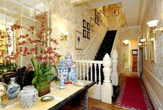 Townhouse stair design and interior decorating - Luxury Townhouse Room Interior