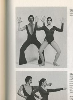 The official guide to Jazz dancing. Arms form 'W' with head, jazz hands.