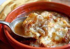 FRANCE: French Onion Soup ~ the way Julia made it, sort of...