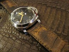 Awesome strap on the Panerai 372!