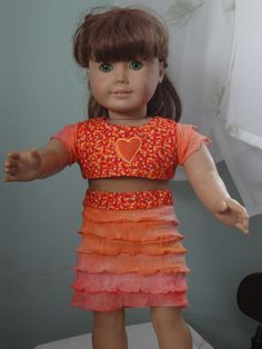 orange frilly tshirt remake- outfit #2- available