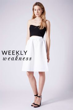 Poor Little It Girl - Weekly Weakness - Topshop Daisy Jacquard Flare Skirt