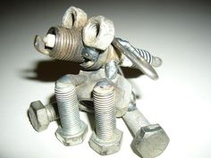 Dog Metal Recycled Art by Creationswelded on Etsy, so cute!