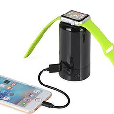 FLECK Apple Watch 38mm/42mm Desktop Charger Charging Stand Holder & 4000mAh External Portable Rechargeable Power Bank for iPhone 7/ 7 Plus/ 6S/ 6S Plus/ 6/ 6 Plus/ 5S/ 5, Cellphones, Tablets and more ** Click image to review more details.
