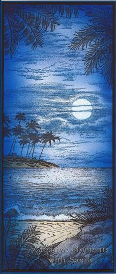 Craft a Scene Moonlight challenge by shulsart - Cards and Paper Crafts at Splitcoaststampers