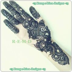 Arabic heena mehndi designs on hands by Pakistani Artist